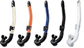 Gull Canal Stable Black/White Silicon Snorkel