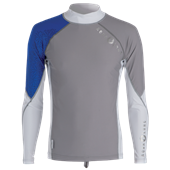 Aqualung Long Sleeves Rashguard Mens Grey Blue