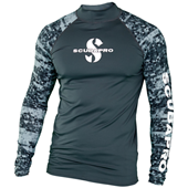 SCUBAPRO Rashguard Long Sleeve Men Graphite UPF50