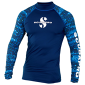 Scubapro Rashguard Long Sleeve Men Aegean UPF50