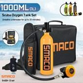Smaco S400+ D set (S400 1L Air Tank,Customized Bag,Refill Adapter,Hand Carry Bag)
